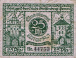 Germany, 25 Pfennig, G42.2a