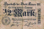 Germany, 1/2 Mark, L75.1b