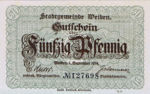 Germany, 50 Pfennig, W18.4b