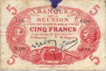 Reunion, 5 Franc, P-0014