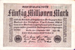 Germany, 50,000,000 Mark, P-0109b v2