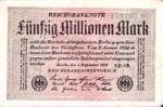 Germany, 50,000,000 Mark, P-0109b v2