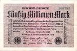 Germany, 50,000,000 Mark, P-0109b v1