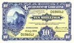 Gibraltar, 10 Shilling, P-0014b