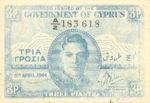 Cyprus, 3 Piastre, P-0028a v2