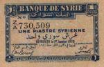 Syria, 1 Piastre, P-0006