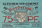 Germany, 75 Pfennig, 143.1