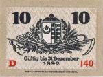 Germany, 10 Pfennig, K19.1b