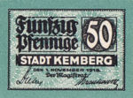 Germany, 50 Pfennig, K19.1c