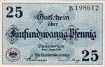 Germany, 25 Pfennig, O26.4b