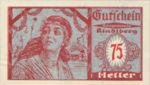 Austria, 75 Heller, FS 838IIa