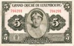 Luxembourg, 5 Franc, P-0043a