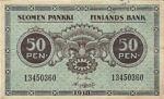 Finland, 50 Penniä, P-0034