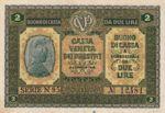 Italy, 2 Lira, M-0005 v1