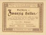 Austria, 20 Heller, FS 208a