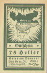 Austria, 75 Heller, FS 287Ia