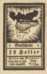 Austria, 75 Heller, FS 287Ie