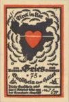 Austria, 75 Heller, FS 287IIb