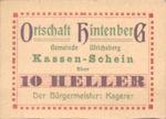 Austria, 10 Heller, FS 1091XIA