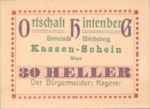 Austria, 30 Heller, FS 1091XIA