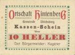 Austria, 10 Heller, FS 1091XIC