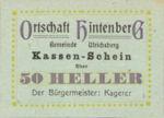 Austria, 50 Heller, FS 1091XID