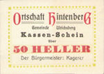 Austria, 50 Heller, FS 1091XIG