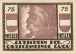 Austria, 75 Heller, FS 307IIa