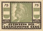 Austria, 75 Heller, FS 307IIc