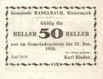 Austria, 50 Heller, FS 354d