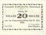 Austria, 20 Heller, FS 354d