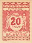 Austria, 20 Heller, FS 357IIb