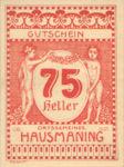 Austria, 75 Heller, FS 357IIb