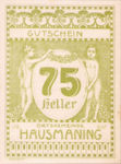 Austria, 75 Heller, FS 357IIc
