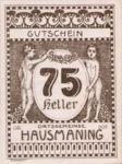 Austria, 75 Heller, FS 357IId