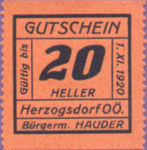 Austria, 20 Heller, FS 373IIIa