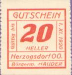 Austria, 20 Heller, FS 373IIIc