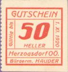 Austria, 50 Heller, FS 373IIIc