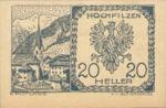 Austria, 20 Heller, FS 382a