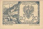 Austria, 20 Heller, FS 382c