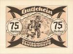 Austria, 75 Heller, FS 402IIe