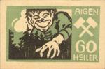 Austria, 60 Heller, FS 12IVa