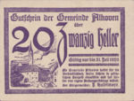 Austria, 20 Heller, FS 18Ia