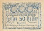 Austria, 50 Heller, FS 1f