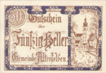 Austria, 50 Heller, FS 27SSIa