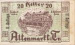 Austria, 20 Heller, FS 29e