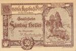 Austria, 50 Heller, FS 8