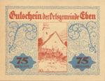Austria, 75 Heller, FS 141IIe