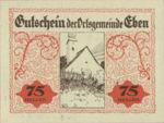 Austria, 75 Heller, FS 141IIf