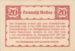 Austria, 20 Heller, FS 40b